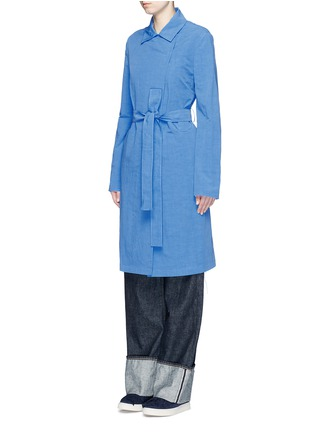 Front View - Click To Enlarge - Ports 1961 - Cotton-linen-cupro sash coat