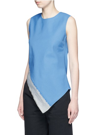 Front View - Click To Enlarge - Ports 1961 - Slash hem insert asymmetric wool-linen top