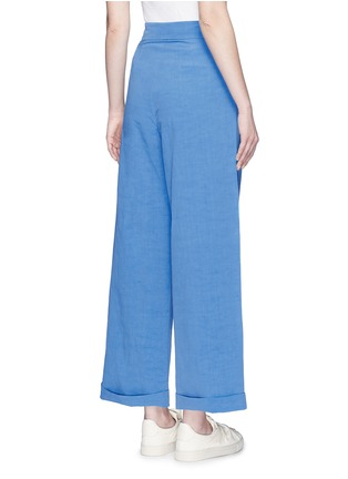 Back View - Click To Enlarge - Ports 1961 - Cotton-linen-cupro wide leg pants