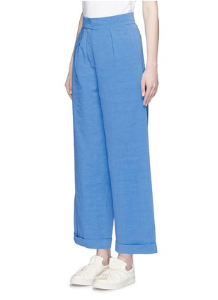 Front View - Click To Enlarge - Ports 1961 - Cotton-linen-cupro wide leg pants