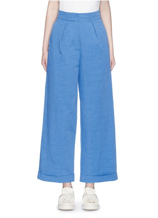Main View - Click To Enlarge - Ports 1961 - Cotton-linen-cupro wide leg pants