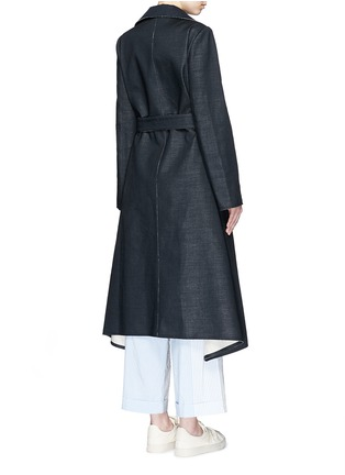 Back View - Click To Enlarge - Ports 1961 - Wool-linen sash coat