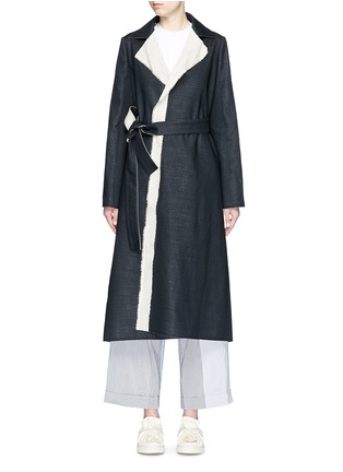 Main View - Click To Enlarge - Ports 1961 - Wool-linen sash coat