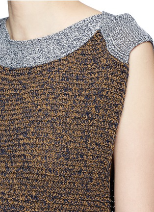 Detail View - Click To Enlarge - Ports 1961 - Colourblock mix knit dress
