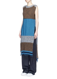 PORTS 1961Colourblock mix knit dress
