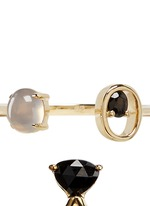 Patch' spinel chalcedony 9k yellow gold two ring set