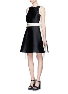 LANVIN Ribbon trim tech satin dress