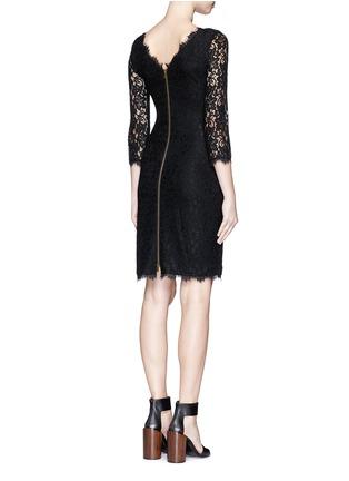 Back View - Click To Enlarge - DIANE VON FURSTENBERG - 'Zarita' floral lace dress