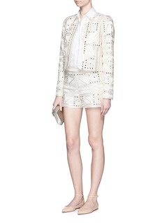 ALICE + OLIVIA 'Kidman' embellished Aztec embroidery jacket