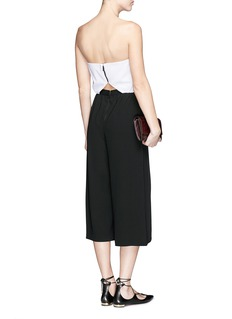 ALICE + OLIVIA'Lucie' colourblock strapless culotte jumpsuit