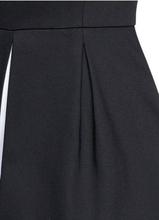 Detail View - Click To Enlarge - alice + olivia - 'Bria' underskirt split hem dress