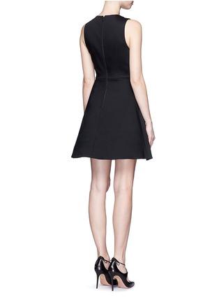 Back View - Click To Enlarge - alice + olivia - 'Bria' underskirt split hem dress