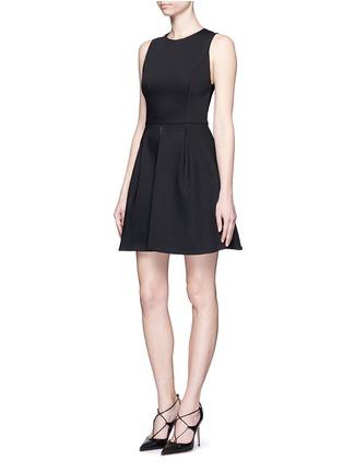 Front View - Click To Enlarge - alice + olivia - 'Bria' underskirt split hem dress