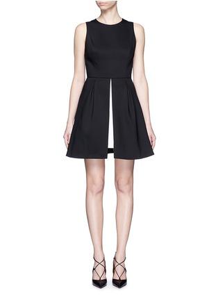 Main View - Click To Enlarge - alice + olivia - 'Bria' underskirt split hem dress