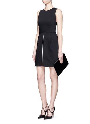 Figure View - Click To Enlarge - alice + olivia - 'Bria' underskirt split hem dress