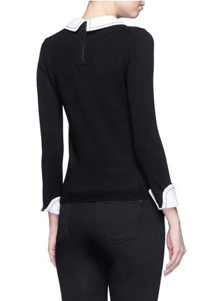 Back View - Click To Enlarge - alice + olivia - 'Porla' detachable Peter Pan collar sweater