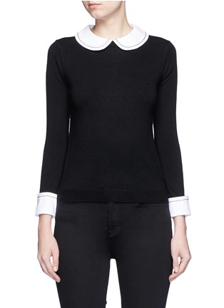 Main View - Click To Enlarge - alice + olivia - 'Porla' detachable Peter Pan collar sweater