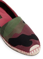 Camouflage print patchwork espadrilles