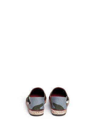 Back View - Click To Enlarge - Valentino - Camouflage print patchwork espadrilles