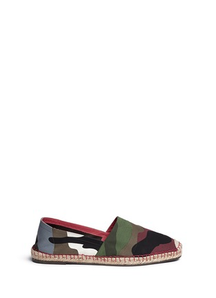 Main View - Click To Enlarge - Valentino - Camouflage print patchwork espadrilles