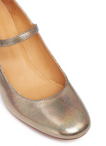 'Louanne' holographic embossed leather Mary Jane pumps