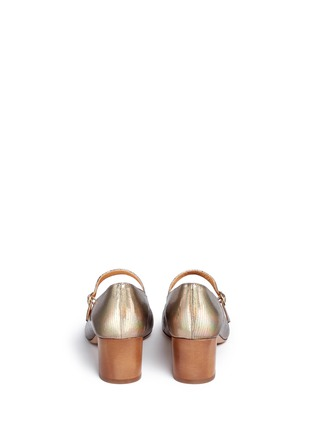 Isabel Marant Étoile - 'Louanne' holographic embossed leather Mary Jane pumps