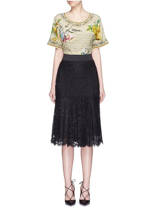 Figure View - Click To Enlarge - Dolce & Gabbana - 'Granita al Limones' print silk T-shirt