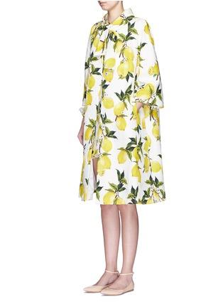 Figure View - Click To Enlarge - Dolce & Gabbana - Lemon print brocade pleat back coat