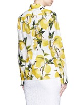 Lemon print cotton poplin shirt