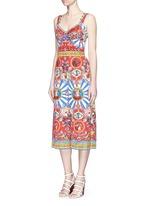 Sicilian Carretto print floral brocade jumpsuit