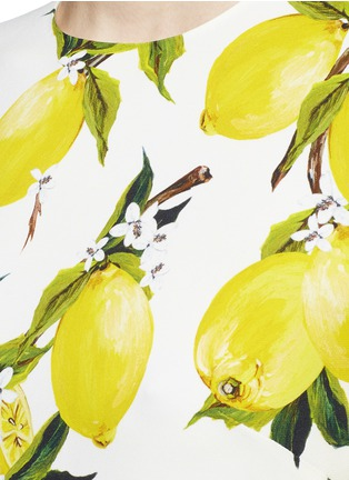 Detail View - Click To Enlarge - Dolce & Gabbana - Lemon print cady top
