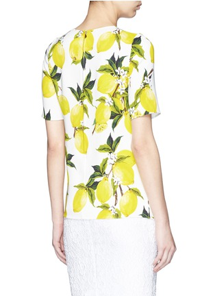 Back View - Click To Enlarge - Dolce & Gabbana - Lemon print cady top