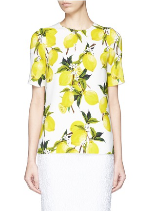 Main View - Click To Enlarge - Dolce & Gabbana - Lemon print cady top
