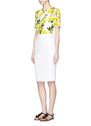 Figure View - Click To Enlarge - Dolce & Gabbana - Lemon print cady top