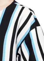 Variegated stripe Stuoia tweed boxy top