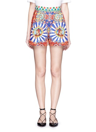 Main View - Click To Enlarge - Dolce & Gabbana - Carretto print poplin shorts