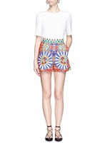 Carretto print poplin shorts