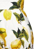 Lemon print brocade bloomer shorts