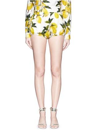 Dolce & Gabbana-Lemon print brocade bloomer shorts