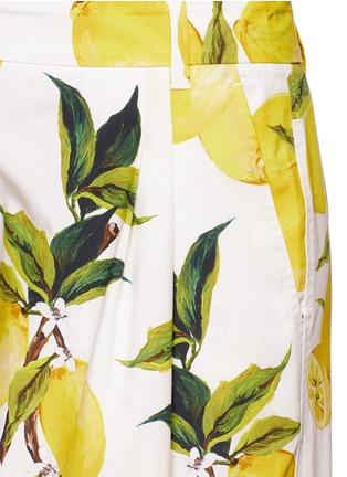 Detail View - Click To Enlarge - Dolce & Gabbana - Lemon print poplin shorts