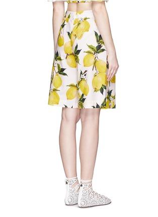 Back View - Click To Enlarge - Dolce & Gabbana - Lemon print poplin shorts