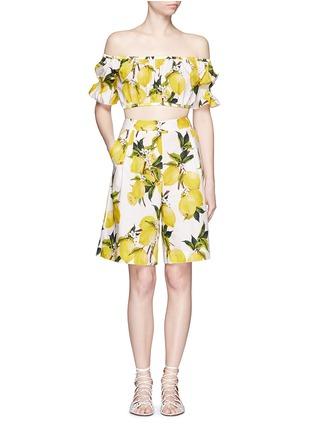 Figure View - Click To Enlarge - Dolce & Gabbana - Lemon print poplin shorts
