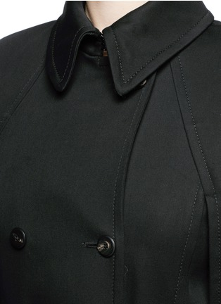 Detail View - Click To Enlarge - Balenciaga - Cape back cotton twill trench coat