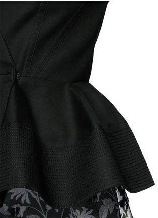 Balenciaga-Cotton toile peplum jacket