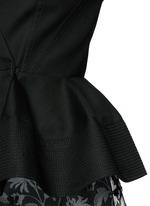 Cotton toile peplum jacket