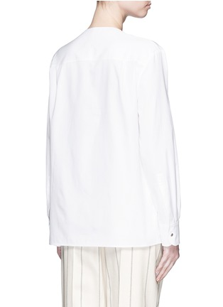 Back View - Click To Enlarge - Balenciaga - Ring detail cotton Oxford shirt