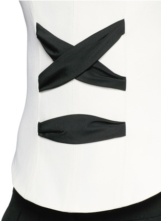 Detail View - Click To Enlarge - Balenciaga - Lace-up front crepe tank top