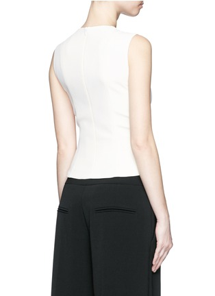 Back View - Click To Enlarge - Balenciaga - Lace-up front crepe tank top