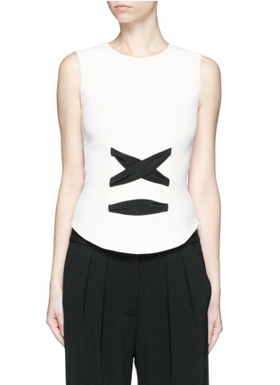 Main View - Click To Enlarge - Balenciaga - Lace-up front crepe tank top