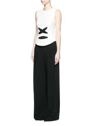 Figure View - Click To Enlarge - Balenciaga - Lace-up front crepe tank top